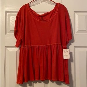 Free People tee size M New with tag